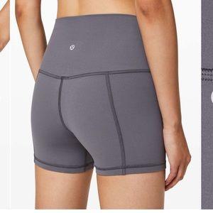 """Lululemon align shorts 4"""" moonwalk size 6"""